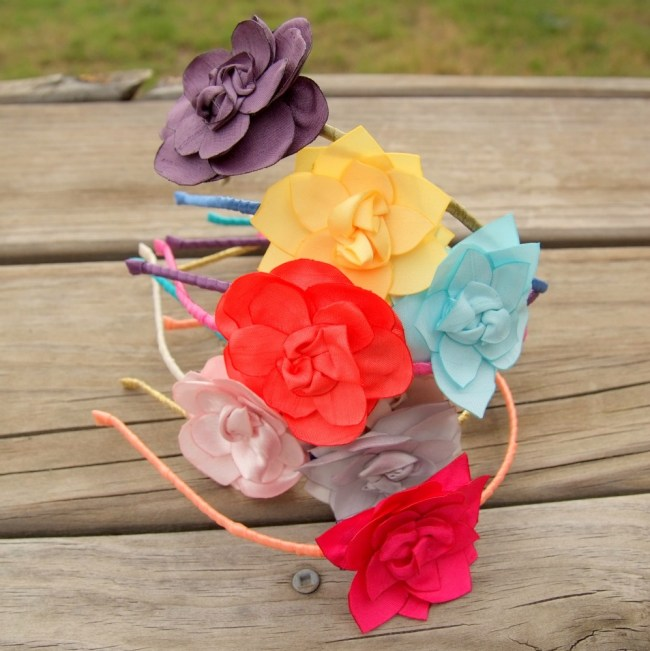 the lyra flower headband