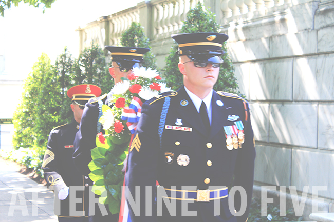 Arlington Guards With Wreath