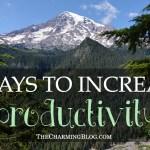 5 Ways to Increase Productivity