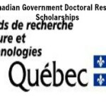 Québec Government Canada Doctoral Research Scholarships for Foreign Students 2017/2018