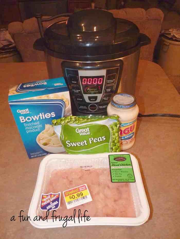 electric pressure cooker  chicken  bowtie pasta alfredo