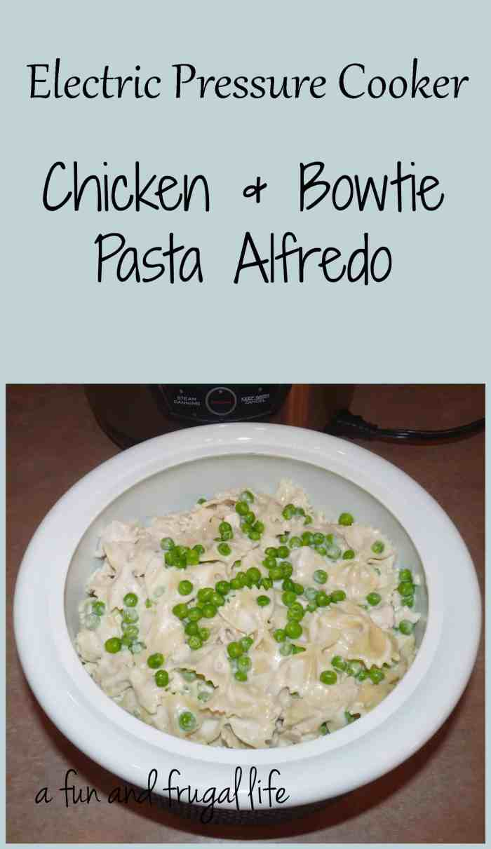Chicken & Bowtie Pasta Alfredo from A Fun and Frugal Life