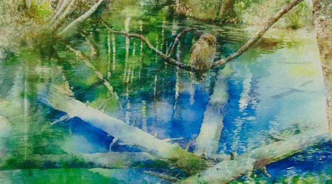 「泉の精霊」 (水彩 10号)