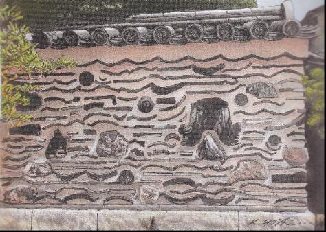 楽寺の博多壁