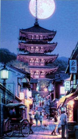 八坂の塔(技法:シルクスクリーン)2007年制作