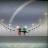 藤城清治「吊り橋はぼくのハープ」