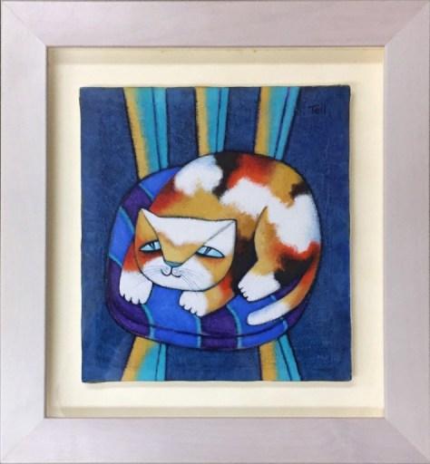 ピラル・テル「三毛猫」 油彩3号