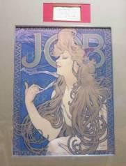 ミュシャの直筆サインと「JOB」版画(エスタンプ)