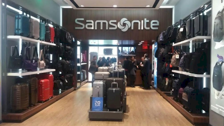 Samsonite proyecta cerrar año con aumento de 45% en ventas frente al 2016