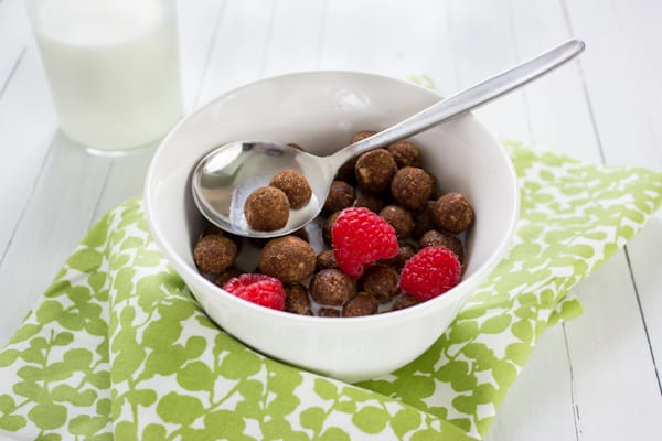 Paleo Chocolate Cereal Puffs