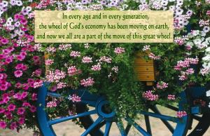 Seeing and Being in the Great Wheel of the Move of God's Economy (Ezekiel 1) [in the picture: In every age and in every generation, the wheel of God's economy has been moving on earth, and now we all are a part of the move of this great wheel.]