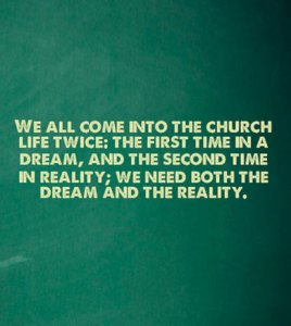 We all come into the church life twice 1