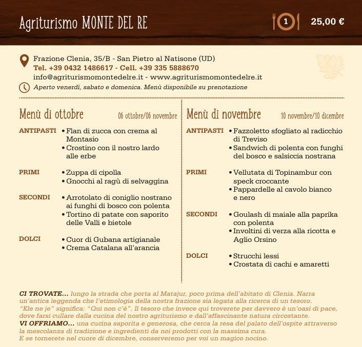 Pagina Invito a pranzo Agriturismo Monte del Re