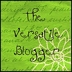 Badge with text Versatile Blogger Award