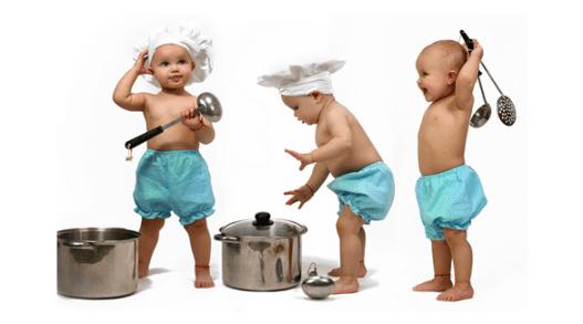 الطبخ مع الأطفال