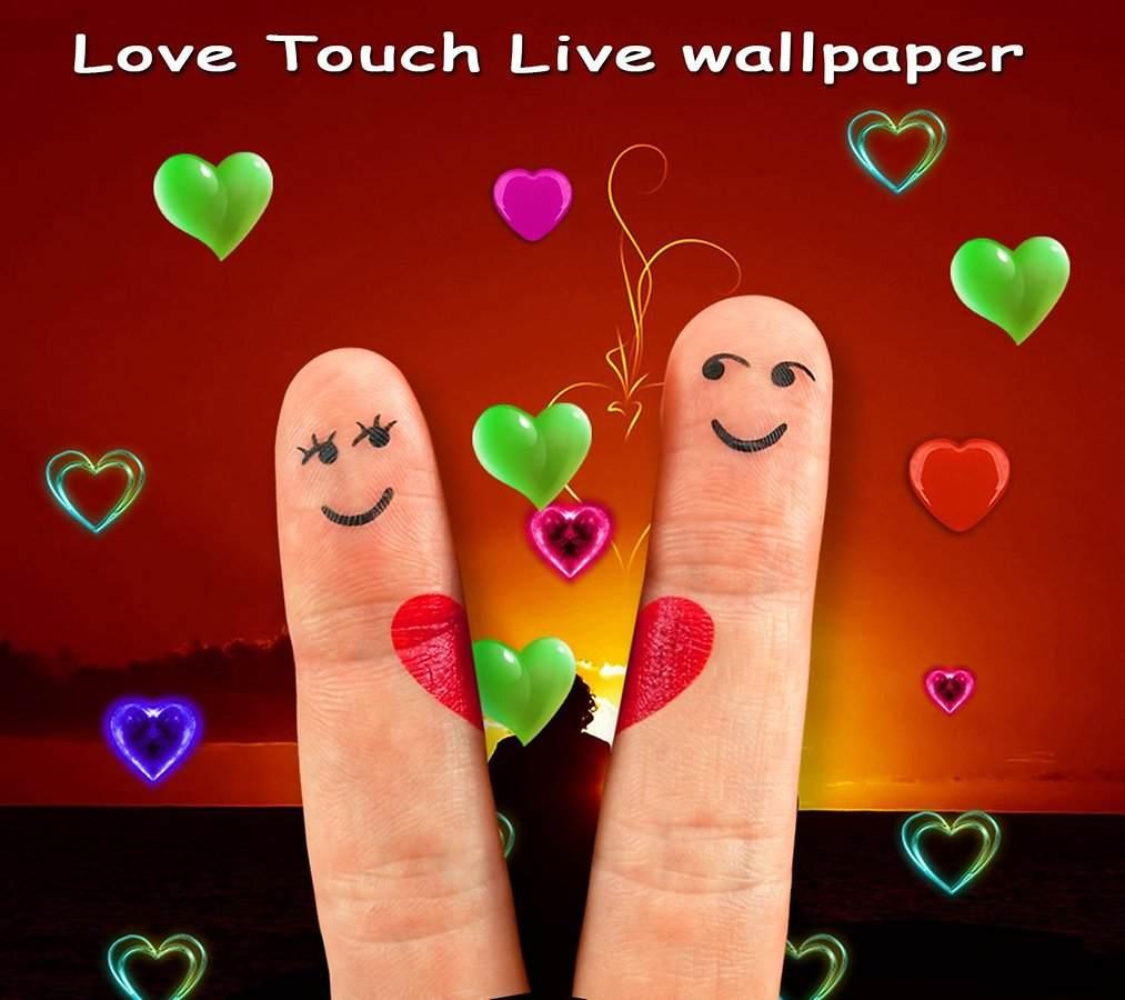 تحميل تطبيق خلفيات الحب Love Touch Live Wallpaper للأندرويد