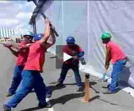بالفيديو معنى الابداع والتناغم عند عمال البناء