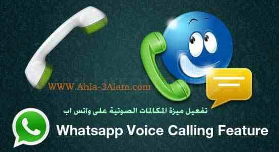 طريقة تفعيل المكالمات على الوتس اب للمحادثة الصوتية