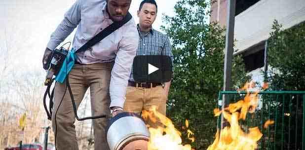 بالفيديو جهازا إطفاء الحريق بواسطة الصوت ابتكار جديد