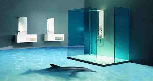 خلفيات ثلاثية الأبعاد لأرضيات الحمامات بدقة عالية