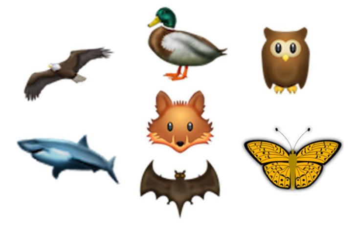 رموز تعبيرية جديدة عن الحياة البرية