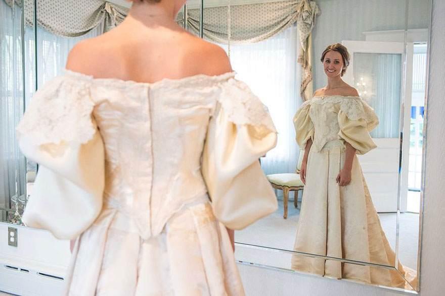 فستان زفاف عمره 120 سنة