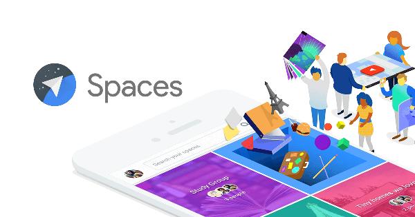 تطبيق جوجل سبيس Spaces مشاركة المجموعات وانشائها
