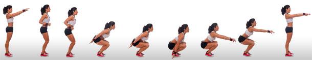 تمرين القرفصاء لتنيحف الارداف وشد عضلات الحوض