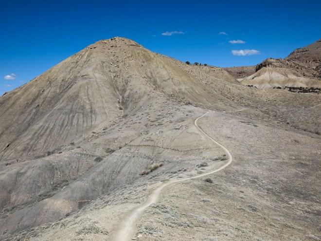 A thin ribbon of trail called Zippity Doo Da in Fruita, Colorado