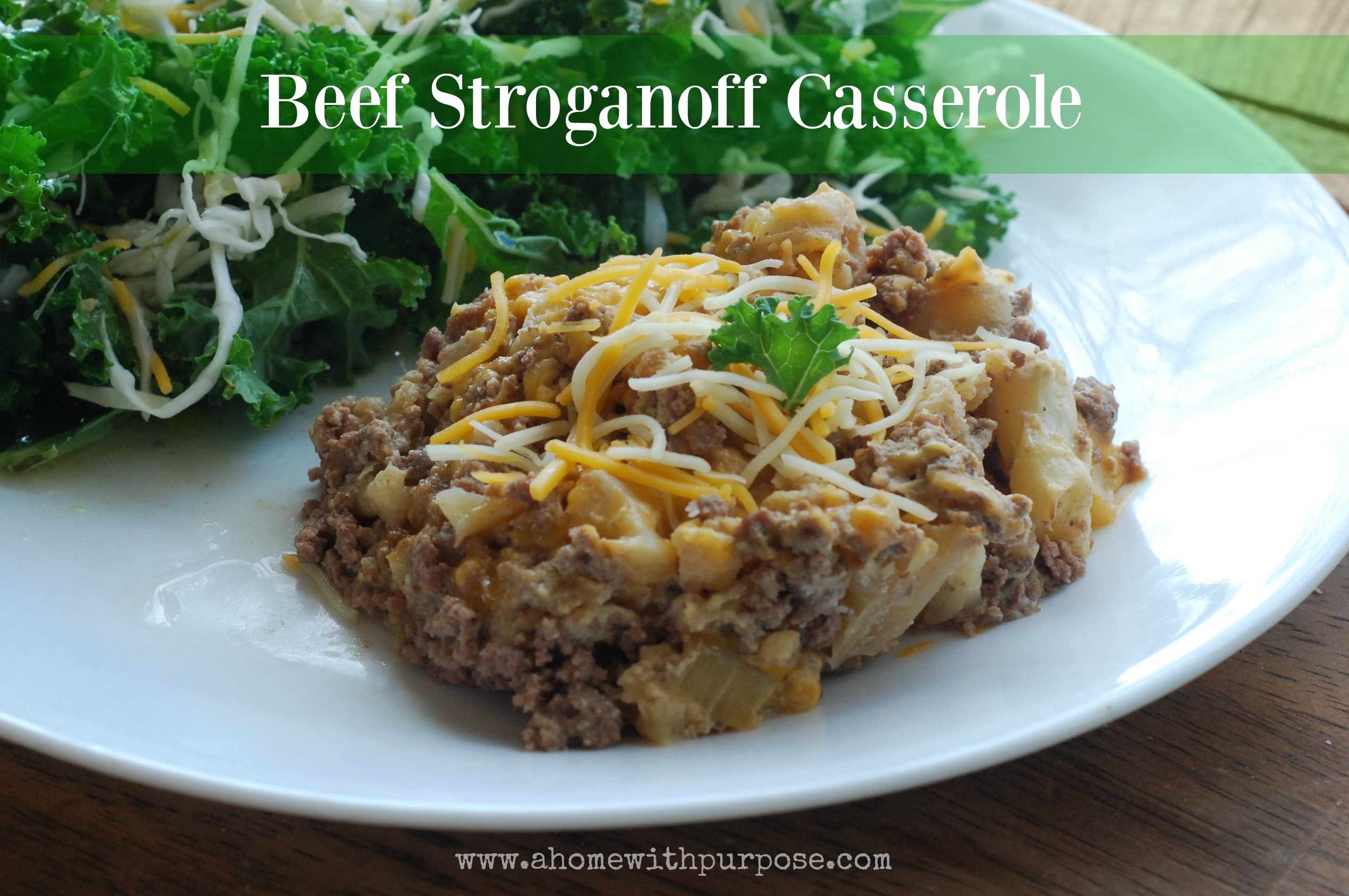 Beef Stroganoff Casserole (S) | A Home with Purpose!