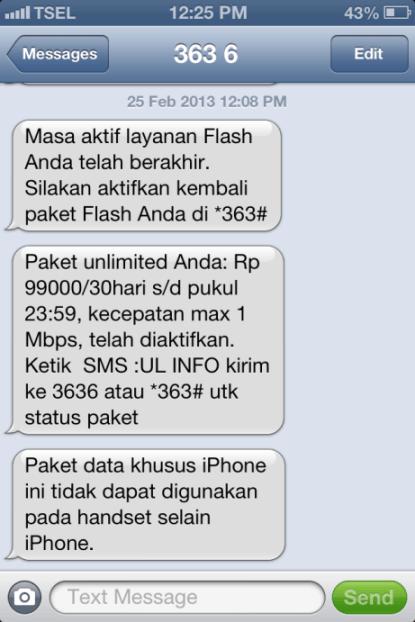 Paket iPhone Telkomsel Aktif