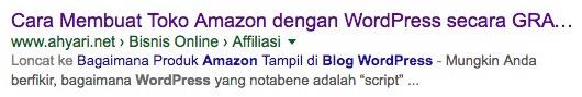 Contoh SERPs di Google