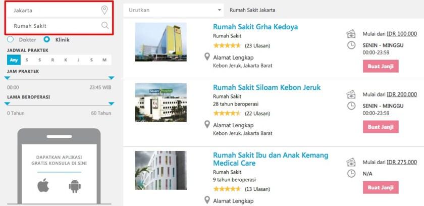 Daftar Rumah Sakit di Jakarta dan Sekitarnya