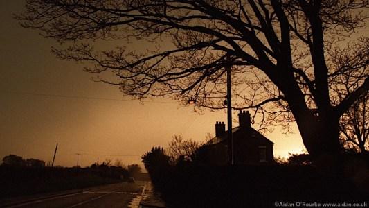 Golden sky Cheshire