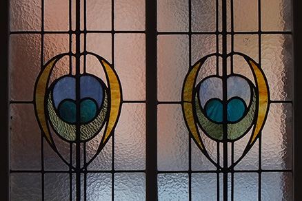 Victoria Baths stained glass window - Gala Pool - Photo by Aidan O'Rourke