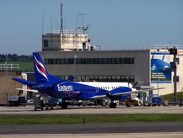 aberdeen airport G-CERY SAAB 2000 by Robert Orr