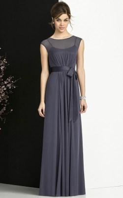 A-line Empire Chiffon Floor-length Bateau Bridesmaid Dresses_1
