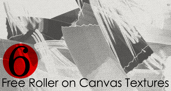 6 Free High Resolution Texture Pack : Roller on Grained Canvas