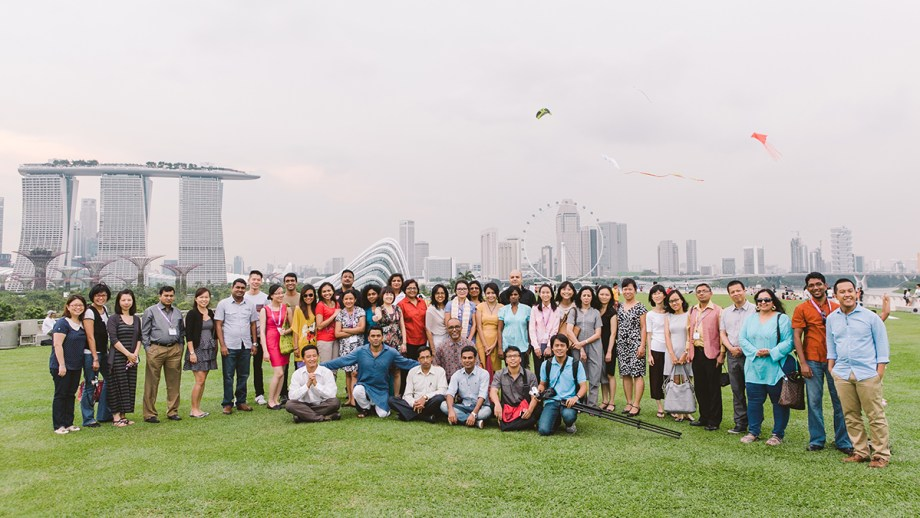 AJF Connect participants atop the Marina Barrage.