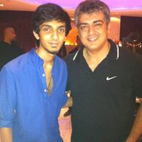 Exclusive Pic: Ajith with Music Director Anirudh Ravichander