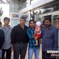 Ajith & his Parents with Fans in Dubai - Exclusive Images