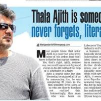 Thala Ajith is Someone who Never Forgets Literally