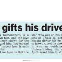 Ajith gifts his driver an I Phone