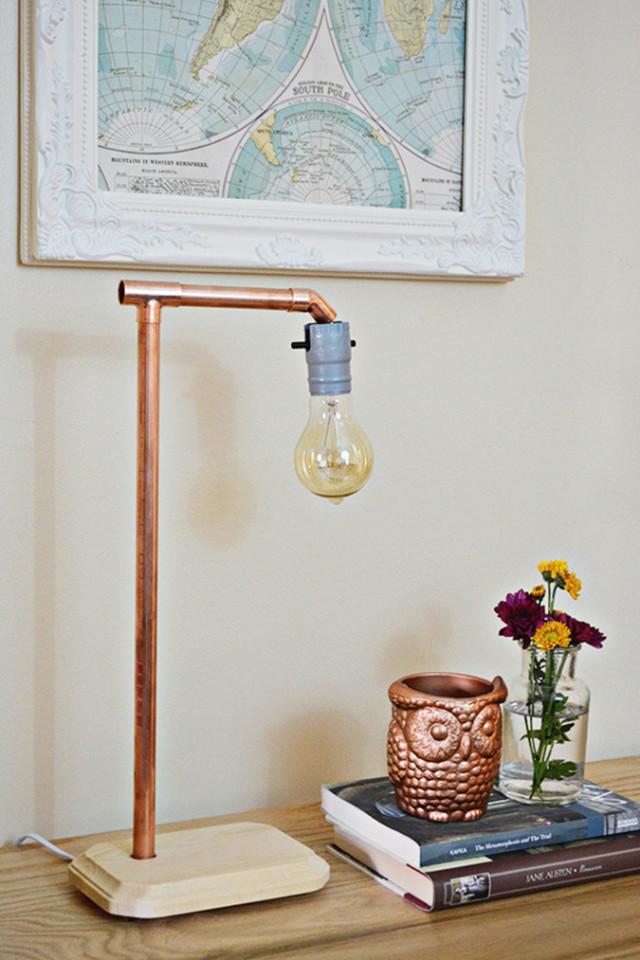DIY Copper Lamp   A Joyful Riot