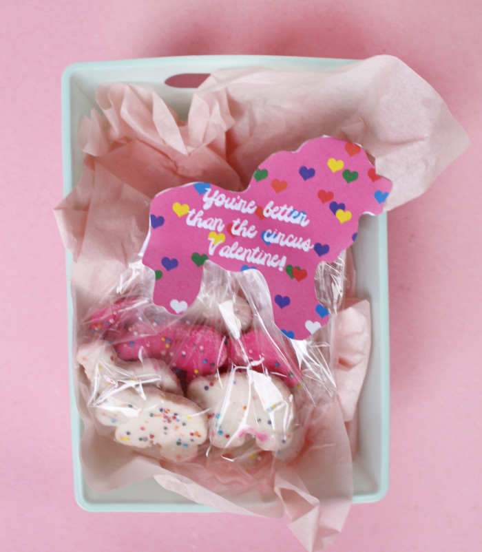 "Free circus animal cookie valentine printable. ""You're better than the circus Valentine!"" 