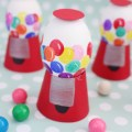 Gumball machine easter eggs. Cute way to serve eggs at a birthday party too! | A Joyful Riot