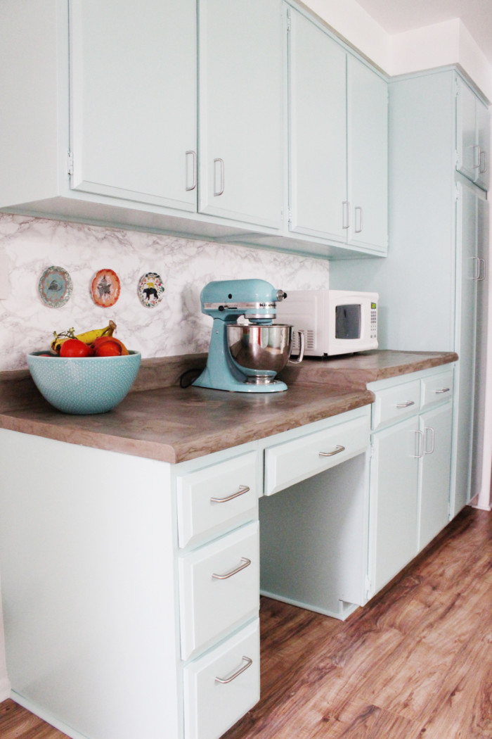 How to paint cabinets the easy way, no removal and no sanding! via ajoyfulriot.com