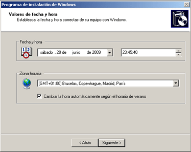 Instalación de Windows Server 2003 Enterprise Edition SP2