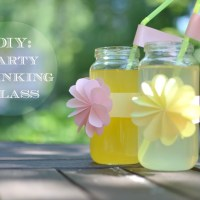 DIY: Party Drinking Glass (From a baby food jar)