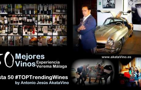 Cartel 50 Mejores Vinos Experiencia Verema Malaga AkataVino.es 1200x620